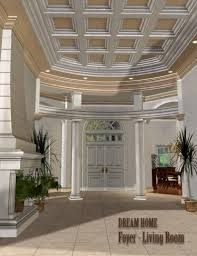beautiful dream living rooms dream home foyer and living room 3d