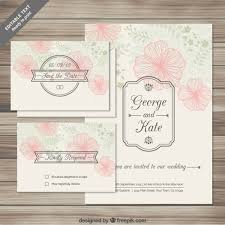 wedding invitations freepik floral wedding invitations cards in sketchy style vector free