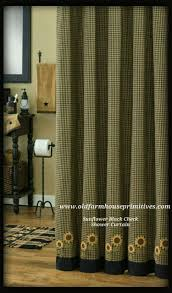 Check Shower Curtain Country Sunflower Shower Curtains Shower Curtains Design