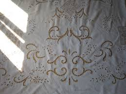 Antique French Lace Curtains by Antique French Pure Linen Curtain Richelieu Embroidery On Net