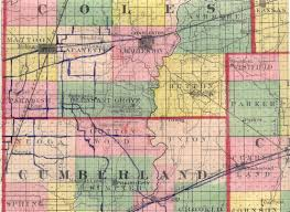 Map Of Counties In Illinois by Mattoon Illinois Then