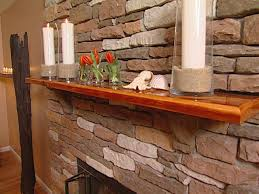 mantel made from recycled ceiling beams hgtv
