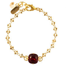 red crystal bracelet images Clara beau sweet single stone ruby red crystal bracelet in gold jpg