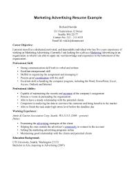 Mba Marketing Resume Sample by Advertising Marketing Resume Examples Essaymafia Com