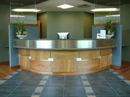 Hospital Reception Desk Hospital Reception Check Out With Panels For Patient Privacy By