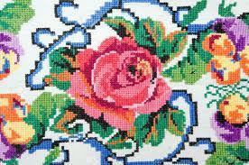 embroidered by cross stitch pattern ukrainian ethnic