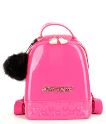 betsey johnson don t be jelly mini backpack in pink lyst