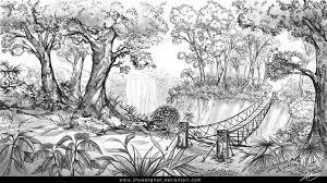 jungle sketch by chuaenghan on deviantart