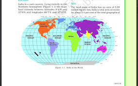 class 9th geography chapter 1 1 india size and location youtube