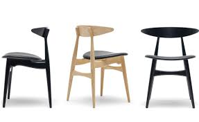 ch33 dining chair with upholstered seat hivemodern com
