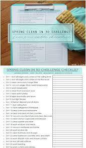 spring clean in 30 days checklist spring inspiration hoosier