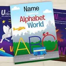 your child in alphabet world personalised book i just it