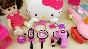 Babydoll Hair Extensions by Hello Kitty Hair Shop Mart Register And Baby Doll Toys Play Youtube