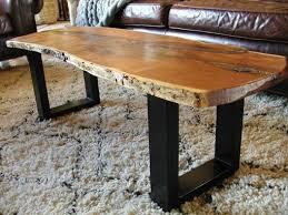 Hardwood Coffee Table Knox Restoration Wood Slab Furniture