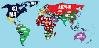What Is A World Map by What The Military Issue Rifle Is In Each Country Of The World