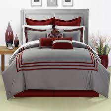 Bed In A Bag Set Cosmo Red King 12 Piece Embroidered Comforter Bed In A Bag With