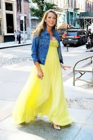 hottest trend of denim jacket with maxi dress and skirt