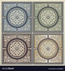 cute tile background halloween vintage tile background royalty free vector image