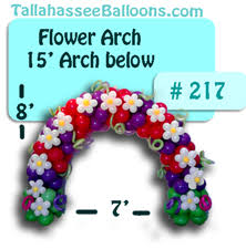 flower arch tallahassee balloon arches and archway events