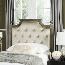rustic wood beige tufted velvet headboard headboards furniture