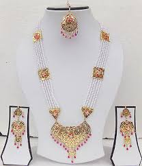 indian bridal necklace images Ethnic south indian bridal jewelry traditional pearl necklace jpg