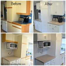 Update Kitchen Cabinet Doors Painting Kitchen Cabinets Before After Spray Painting Kitchen