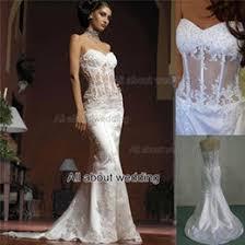 corset wedding dresses see through strapless lace wedding dresses online see through
