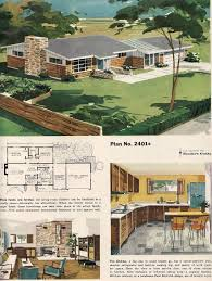 ranch homes floor plans an artist u0027s renderings and floor plan for a midcentury suburban