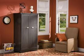 Black Armoire Furniture Rustic Pine Computer Armoire For Home Office Furniture