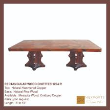 rectangular dining table wood pedestal chocolate distressed finish