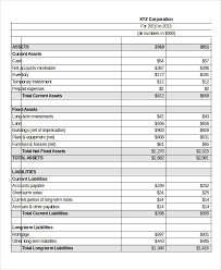 Excel Balance Sheet Template Free Proforma Income Statement Template 8 Income Statement