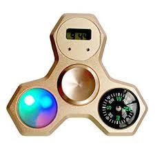 a light up fidget spinner amazon com fidget spinner metal rainbow with compass clock led cool