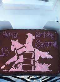 barrle racing sweet 16 bday party barrel racing silhouette cake