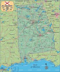 Map Of The 50 United States by Map Of Alabama United States Of America Usa Map In The Atlas