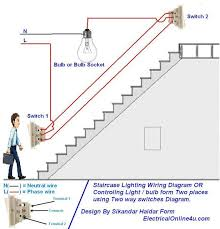 two way light switch diagram u0026 staircase wiring diagram woodwork