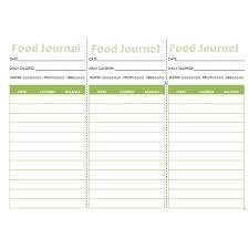 printable daily food intake journal three downloadable food journals pocket journal refrigerator