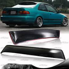 for 1992 1995 honda civic ex dx 2 door abs rear roof window visor