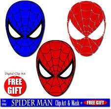 spiderman clipart red blue pencil color spiderman