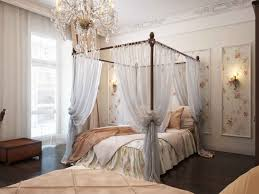 bedroom canopy bedroom sets with white curtains and chandelier