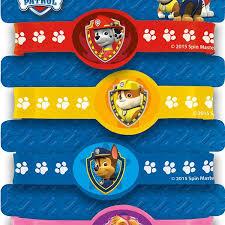 paw patrol stretchy bracelets birthday party supplies loot treat