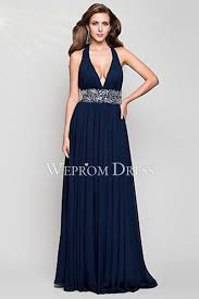 v neck sash dark navy blue stores that have prom dress