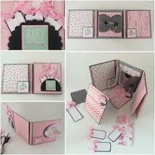 baby girl scrapbook album baby girl mini album in pinks and black by callmecraftie