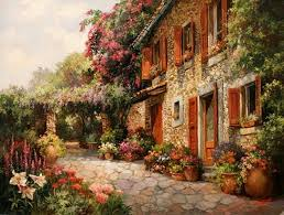 houses mediterranean house paul guy gantner painting architecture