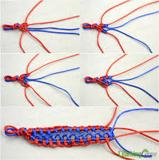 woven bracelet tutorials images How do you make woven hemp bracelet with two colored strings for jpg