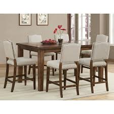 counter height dining table walnut chairs for sale formal room
