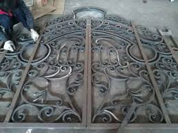 Custom Exterior Door Sizes Hench Luxury Wrought Iron Gate Hc Lg11 Custom Size Acceptable In