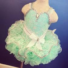 heidi marshall mint green cupcake glitz pageant dress 18 months to