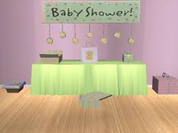mod baby shower mod the sims baby shower mesh set