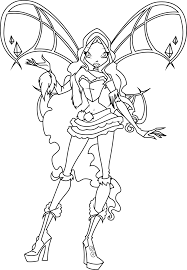 great winx club coloring pages with winks club coloring pages