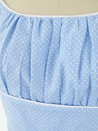 powder blue powder blue polka dot full dress vintage inspired dresses blue